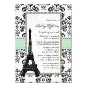 Parisian Mint and Black Bridal Shower Invitations starting at 2.66