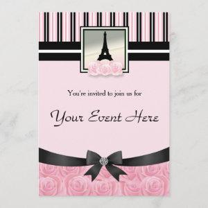 Parisian party Eiffel tower pink roses starting at 2.82