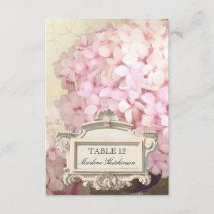 Parisian Pink Hydrangeas Table Number Place Card starting at 2.21