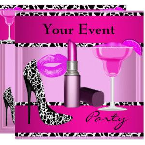 Party Event Shoes Pink Lipstick Invitation starting at 2.40