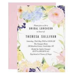 Pastel Spring Flowers Bridal Luncheon Invitation starting at 2.15