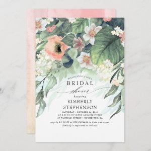 Peach and Pink Floral Bohemian Bridal Shower Invitation starting at 2.51