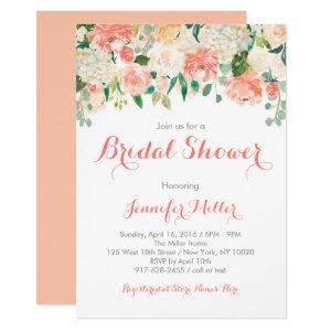 Peach Floral Bridal Shower Invitations starting at 2.40