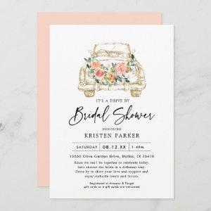 Peach Floral Drive By Bridal Shower Invitation starting at 2.61