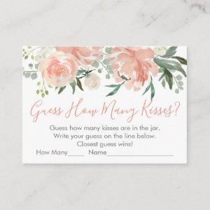 Peach Floral Guess How Many Bridal Shower Game Enclosure Card starting at 0.40
