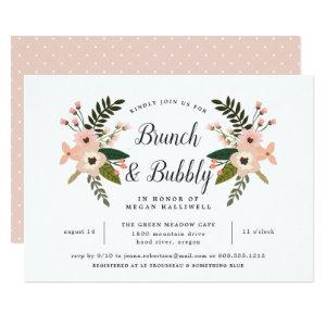 Peach Meadow Brunch & Bubbly Bridal Shower Invite starting at 2.51
