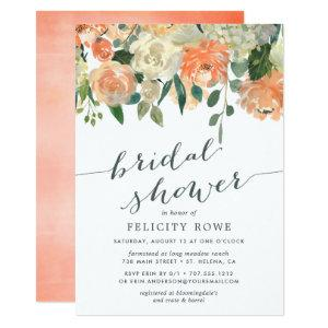 Peach Midsummer Floral | Bridal Shower Invitation starting at 2.26