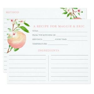 Peach Orchard Matching Bridal Shower Recipe Cards starting at 2.31