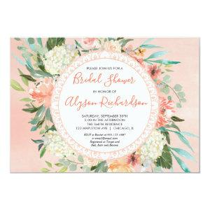Peaches and cream bridal shower watercolor invitation starting at 2.36