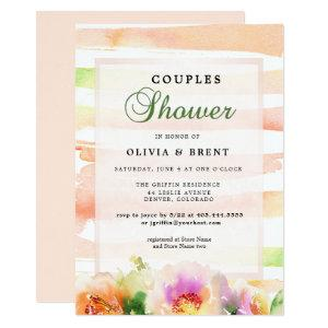 Peaches and Cream Floral Wedding Couples Shower Invitation starting at 2.41