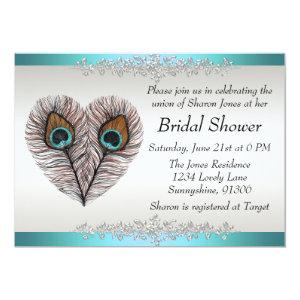 Peacock Bridal Shower Announcement starting at 2.51