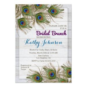 Peacock Feather Bridal Shower Brunch Invitation starting at 2.55