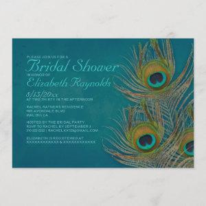 Peacock Feather Bridal Shower Invitations starting at 2.66