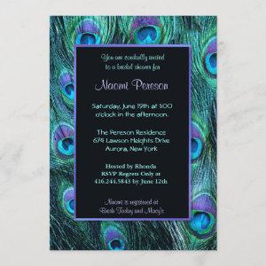 Peacock Feather Drama - Bridal Shower Invitation starting at 2.71
