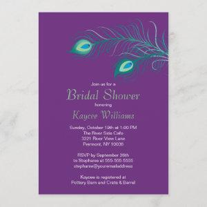 Peacock Feathers Bridal Shower Invitation starting at 2.51