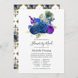 Peacock Floral Baby or Bridal Shower by Mail Invitation starting at 2.51