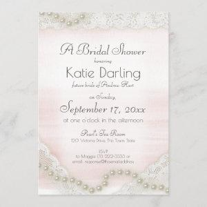 Pearls and Lace Blush Bridal Shower starting at 2.61