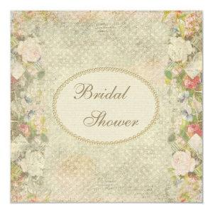 Pearls & Lace Shabby Chic Flowers Bridal Shower Invitation starting at 2.51
