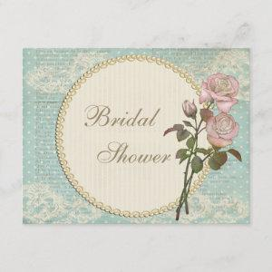 Pearls & Lace Shabby Chic Roses Bridal Shower starting at 2.31