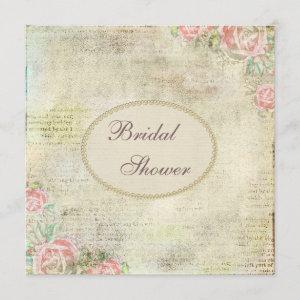 Pearls & Lace Shabby Chic Roses Bridal Shower starting at 2.51