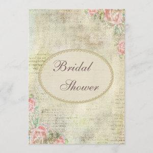 Pearls & Lace Shabby Chic Roses Bridal Shower starting at 2.66