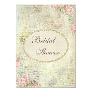 Pearls & Lace Shabby Chic Roses Bridal Shower Invitation starting at 2.66