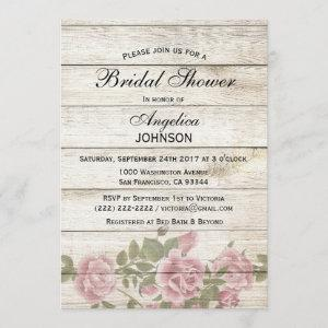 Personalized Rustic Chic Vintage Bridal Shower Invitation starting at 2.35