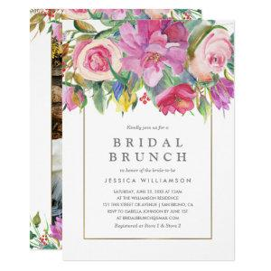 Photo Watercolor Floral Bridal Brunch Invitation starting at 2.40