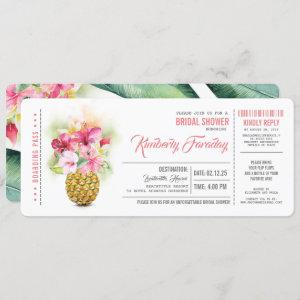 Pineapple Beach Boarding Pass Ticket Bridal Shower starting at 2.55