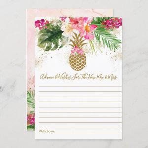 Pineapple Floral Bridal Shower Advice Cards starting at 2.70