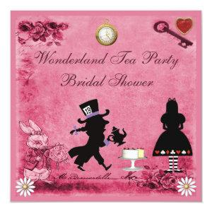 Pink Alice in Wonderland Tea Party Bridal Shower Invitation starting at 2.51