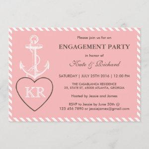 Pink Anchor Love Engagement Party Invitation starting at 2.51