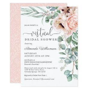 Pink and Beige Floral Virtual Bridal Shower Invitation starting at 2.51