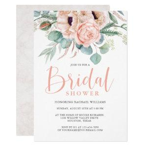 Pink and Beige Watercolor Floral Bridal Shower Invitation starting at 2.40