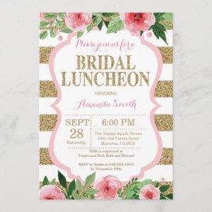 Pink and Gold Bridal Luncheon Invitation Glitter starting at 2.35