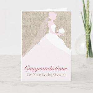 Pink and White Bride Bridal Shower Greeting Card starting at 3.45