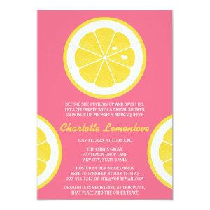 PINK AND YELLOW LEMON THEMED BRIDAL SHOWER INVITATION starting at 2.87