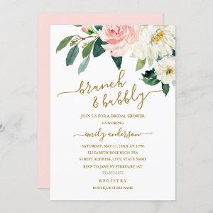 Pink Blush Floral Brunch And Bubbly Bridal Shower starting at 2.40