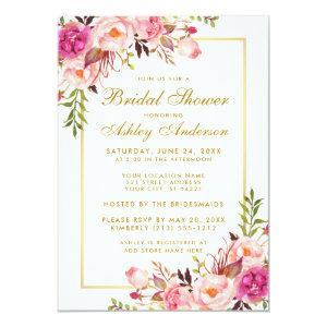 Pink Blush Gold Floral Bridal Shower Invitation starting at 2.51