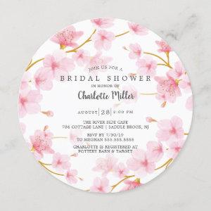Pink Cherry Blossoms  Bridal Shower Invitation starting at 2.55