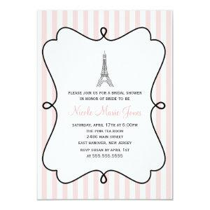 Pink Eiffel Tower Bridal Shower Invitation starting at 2.66