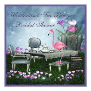 Pink Flamingo Wonderland Tea Party Bridal Shower Invitation starting at 2.51