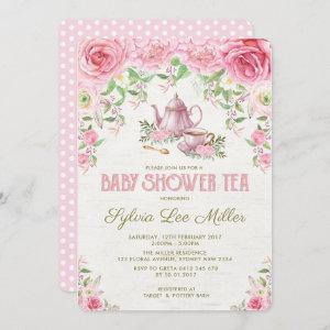 Pink Floral Baby Shower Kitchen Tea Party Invite starting at 2.71