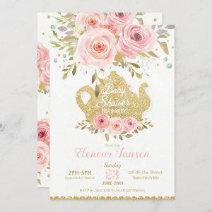 Pink Floral Baby Shower Tea Party Invitation Girl starting at 2.45