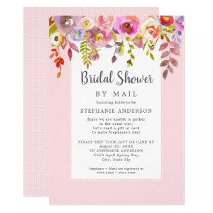 Pink Floral Bridal Shower by mail Invitation starting at 2.40