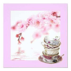 Pink Floral Bridal Shower Tea Party Invitation starting at 2.67