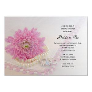 Pink Flower, Lace and Rings Bridal Shower Invite starting at 2.60