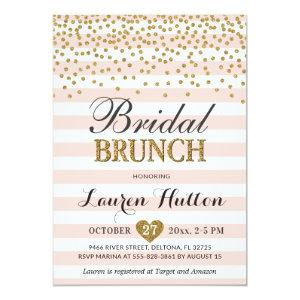 Pink Gold Bridal Brunch Invitations Cards Mimosa starting at 2.45