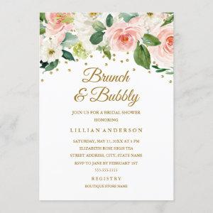 Pink Gold Watercolor Floral Brunch And Bubbly starting at 2.40