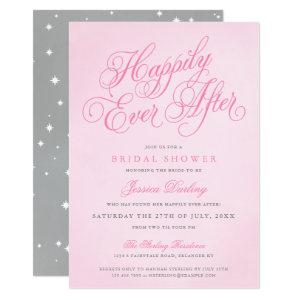Pink Happily Ever After Bridal Shower Invitations starting at 2.98